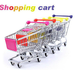 Wholesale Pc Supermarket - 120 pcs  lot Mini Supermarket Handcart Green Shopping Utility Cart Mode Green Storage Many Colors Free Shipping