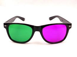 2019 3d linse Schwarze Gläser 3D mit roter und grüner Linse für Sonnenbrille des Film-3D Unisex 20PCS geben Versand frei günstig 3d linse