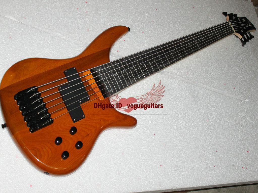 Bästsäljande anpassade 7 strängar Bass Electric Bass Gitarr Gratis frakt A2