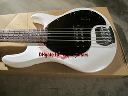 Wholesale bass guitar stingray - Stingray 5 H White Pearl   Rosewood 5 strings bass electric bass guitar free shipping
