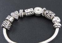 ingrosso branello d'amore tibetano-Perline cuore amore stella distanziatore 100 pz / lotto argento tibetano braccialetto di fascino adatto gioielli perline sparse fai da te