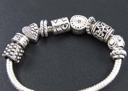 TibeTan silver chrisTmas charms online shopping - Heart Love Star Spacer Beads Tibetan Silver Fit Charm Bracelet Jewelry DIY Loose Beads