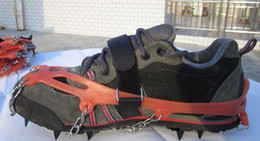 Wholesale Portable Rock - Brand New! Portable 8-Teeth Camping Climb Ice Crampon Ice Walking Cleat