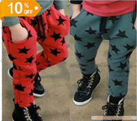 Wholesale children s clothes new boys and girls cute five star harem pants casual pants Kids casual pants dandys