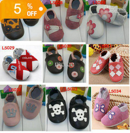 Wholesale Infant Pre Walkers - Leather Baby Soft Sole Walking Shoes Zoo Newborn Infant Pre-walk shoes Toddler First walker Shoes