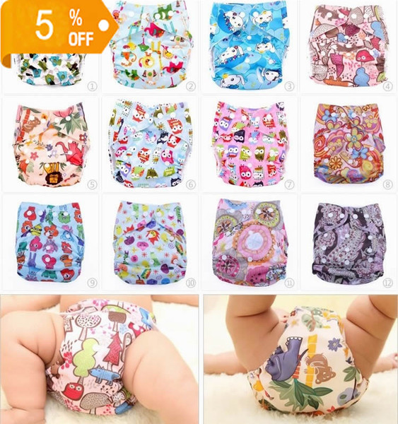 top popular Baby Cartoon Cloth Nappy Diapers Cloth Diaper 13 designs for pick up Colorful Bags 20120901 2021