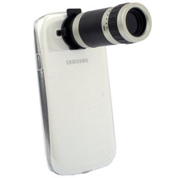 Wholesale Case For I9 - newest !! Free shipping ! 8X Zoom Mobile Phone Telescope + Crystal Case for Samsung Galaxy SIII   i9