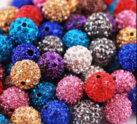 Wholesale Ball 12mm - 12mm Clay CZ Crystal Disco Ball Spacer Beads 60pcs lot 30Colors For Pave Bracelet Hot Sell Jewelry