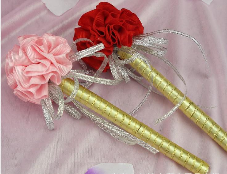 2018 carnation flower pen wedding golden ink sign in pen wedding reception guest sign in bridal shower pens festive party props from jessie06