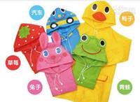 Wholesale Raining Frog - Rain Coat Kids Raincoat Rainwear Rainsuit Waterproof Auto-Duck-Bunny-Frog 5pcs lot free shipping