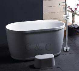 Torneira do bar cromado on-line-Faucet duplo do assoalho do chuveiro do cromo das barras do faucet da banheira do banheiro (FL-7103)