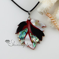Wholesale Wholesale Hawaiian Pendants - leaf patchwork hawaiian shell necklaces shell pearl jewelry mother of pearl jewelry Mop11021 cheap china fashion jewelry
