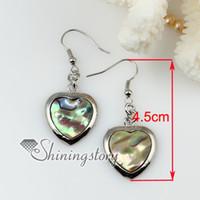 Wholesale Shell Earings - teardrop rhombus round oval olive shell earings sea shell jewellery Fashion jewelry earrings
