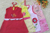 Wholesale Sleeveless Pinafore Girl - Baby Dress Girl sundress jumper 100% Cotton Girl pinafore baby dress one-piece dresses lovely