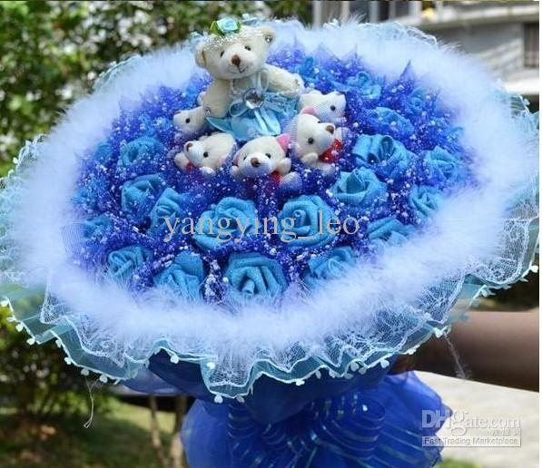 Lover S Flower Roses Blue Pink Red And Purple Roses