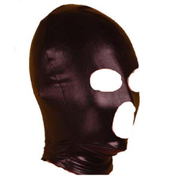 Wholesale Sex Toy Face - Sex Head Hood Face Mask Headgear BDSM Bondage Gear Slave Trainer Visible Sex Toys for Women Black XLY1033