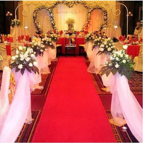2013 New Chinese Red Beautiful Aisle Carpet Aisle Runner For Wedding Wedding Decor