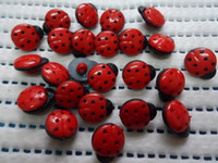 Wholesale Baby Sewing Buttons - 200pcs 16mm black &red beetle resin buttons,baby DIY appliques sewing scrapbook Cardmaking mix lot