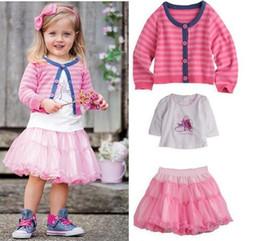 Wholesale Long Skirt Coats - Wholesales 2013 new Baby, Kids Clothing Children's girl's T-shirt +skirt+coat three set suit NT-191