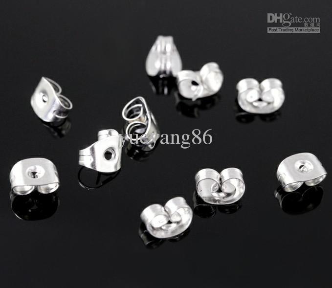 1000 pcs 4 * 6mm de Alta qualidade em aço Inoxidável brinco back.jewelry accessories.fit studs