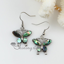 Wholesale Dragonfly Butterfly Jewelry - dragonfly butterfly spider abalone Shell mother of pearl shell pearl earrings sea shell jewelry Fashion jewellery