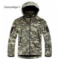 Wholesale Acu Xxl - HOT TAD V 4.0 Men Outdoor Hunting Camping Waterproof Coats Jacket Hoodie Soft Shell Jacket XS - XXL (ACU)