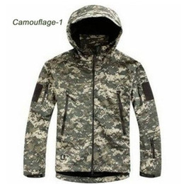 Wholesale Acu S - HOT TAD V 4.0 Men Outdoor Hunting Camping Waterproof Coats Jacket Hoodie Soft Shell Jacket XS - XXL (ACU)