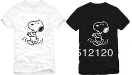 Wholesale Couple Tshirt Print - Free shipping high quality snoopy t-shirts dog couple tshirt snoopy t shirt 100% cotton 6 color
