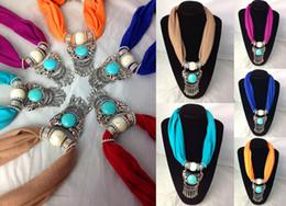 Wholesale Red Crystal Bib Necklace - Best Buy Gift Bib Necklace Scarf Short Pendant Jewellry Lady Scarves