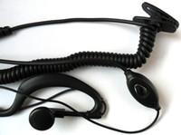 fones de ouvido militares venda por atacado-5 pçs / lote Freeshipping interfone fone de ouvido para ICOM rádio 2 vias IC V80 IC-V82 IC-V8 IC-V85 ICV8