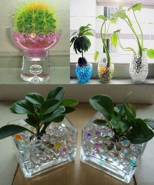 Water Marbles Blue Crystal Soil Gel Balls Plants Decoration Wedding Centerpieces
