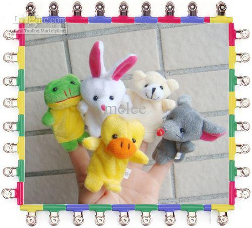 Lowese price EMS Free baby finger puppets Plush Animal finger doll Christmas gifts Baby dolls