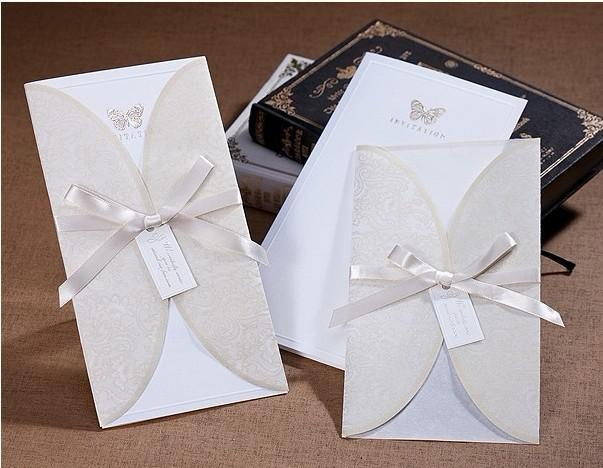 B8002 Bow Invitation Card Wedding Invitations Come Envelopes Sealed Example Of Fonts For From Allday168