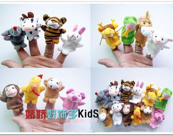 Lowese price EMS Free baby finger puppets Plush Animal finger doll Christmas gifts Baby dolls 500pc