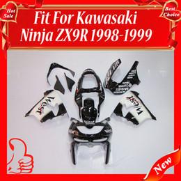 Wholesale Custom Black Zx9r - Custom Fairing for KAWASAKI Ninja ZX-9R 98-99 ZX9R ZX 9R 9 R 98 99 1998 1999 Fairings ABS Black West