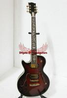 guitare cerise gauche achat en gros de-Le meilleur Haute qualité nouvelle cerise noire creuse main gauche Jazz guitare fleur touche A6
