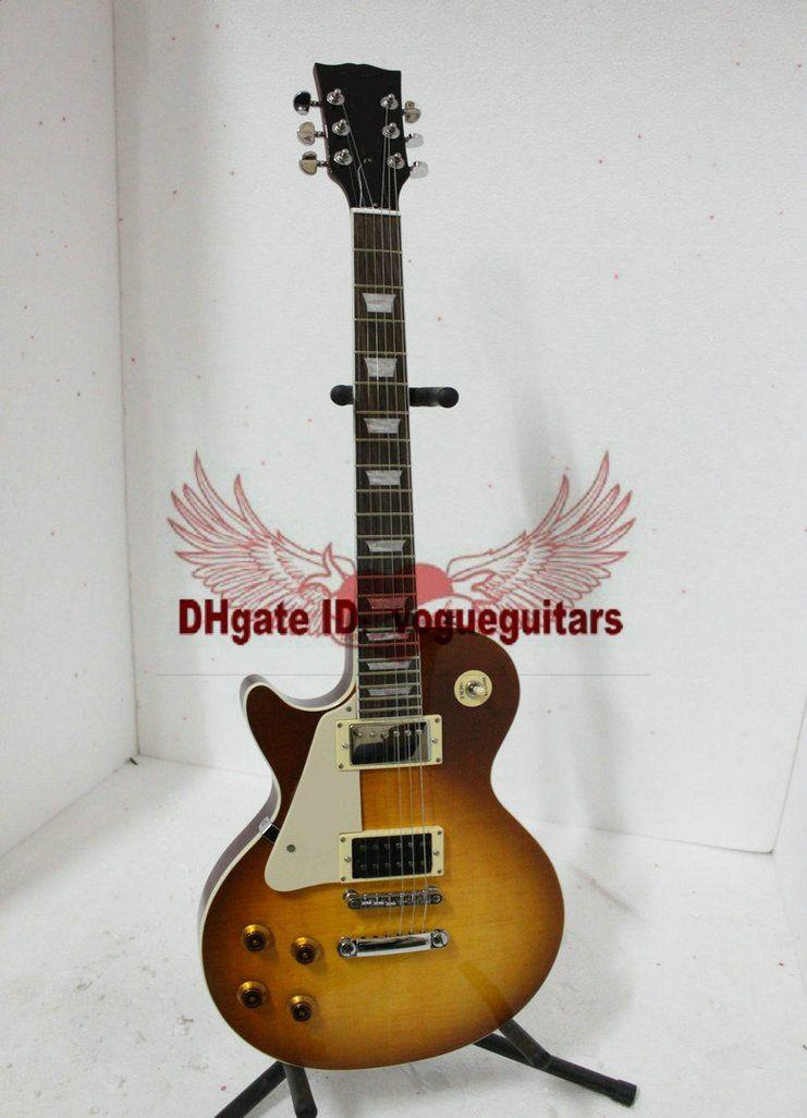 Mão esquerda Jimmy Página DOIS VOS Guitarra Elétrica Mogno Melhor Alta Qualidade Frete Grátis A887