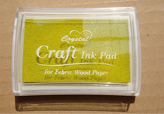 14色クリスタルクラフトインクパッド/カラフルな漫画インクパッド/インクスタンプパッド/ DIYのおかしい作品