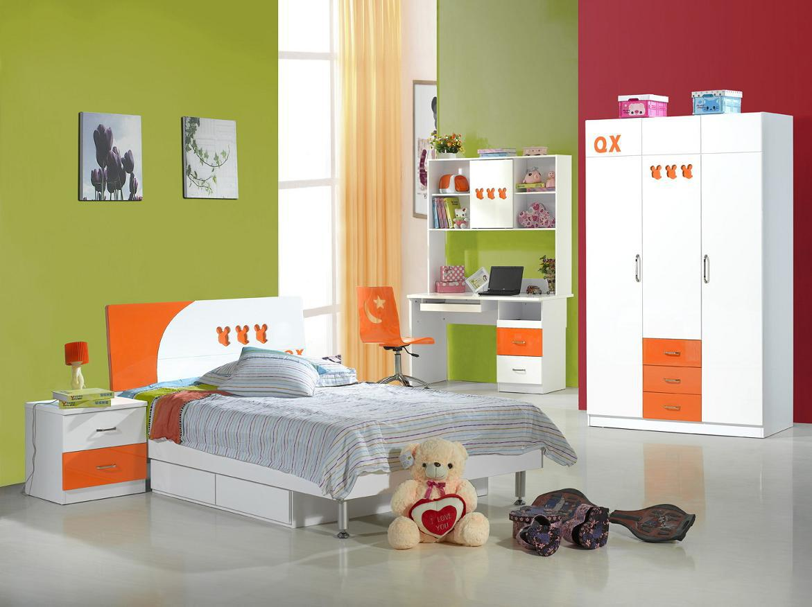 Great 4pcs MDF Children Bedroom Set / Children Furniture