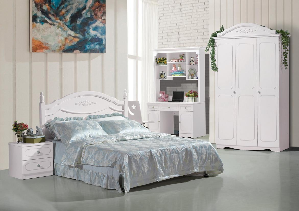 Panel White Modern Princess / Girl Children Bedroom Furniture ...