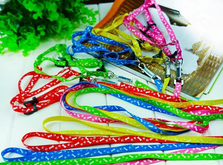 Gratis verzending huisdier harnas touw hond leiband lead kraag puppyharness touw