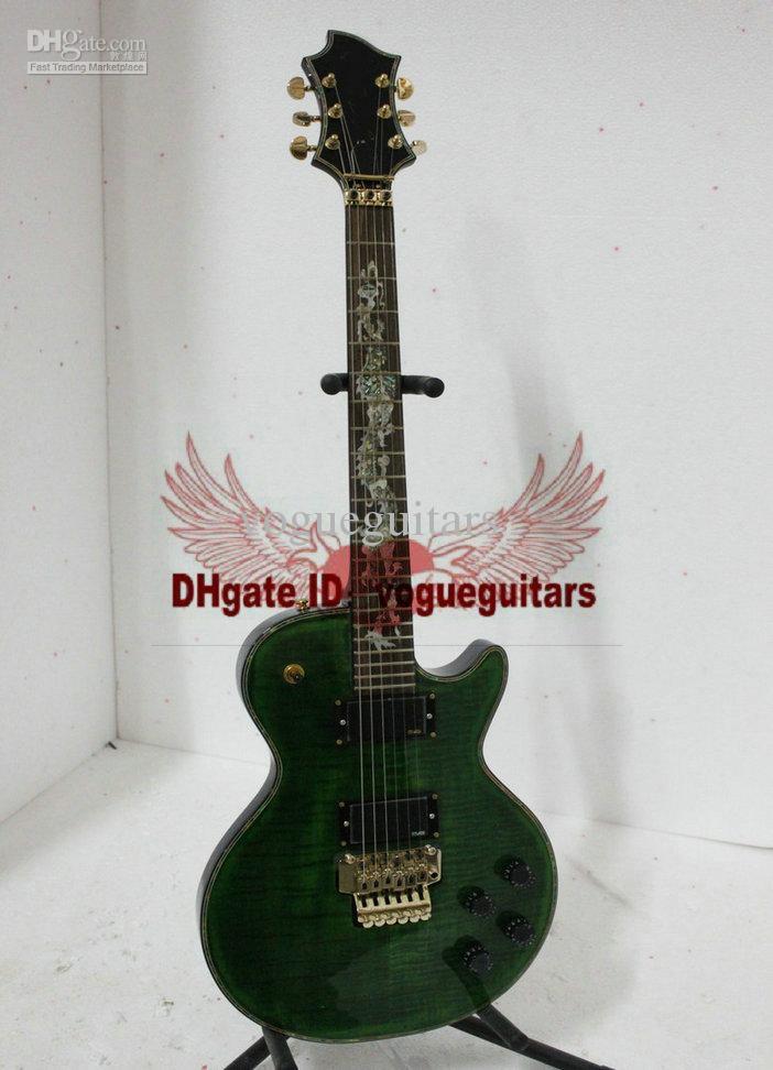 ベストセラー新着グリーン高品質カスタムショップエレクトリックギター送料無料A81