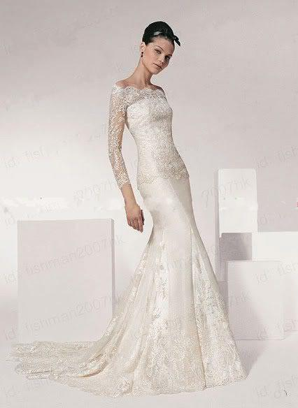 Off White Wedding Dresses with Sleeves