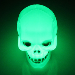 Wholesale Arrival Activities - new arrival Pumpkin lamp Halloween activities props skull small night light LED electronic terrorist party decoration #38B