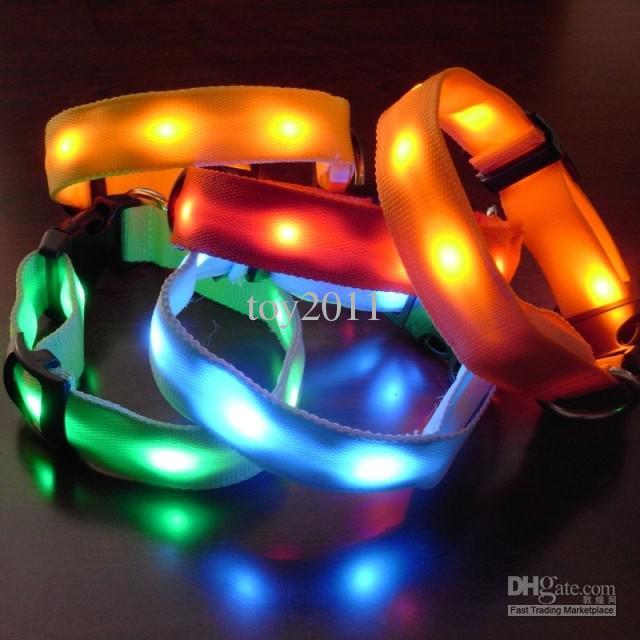 Ücretsiz kargo Led pet yaka Led köpek yaka yanıp köpek yaka renkli Işık pet yaka 10 Adetgrup