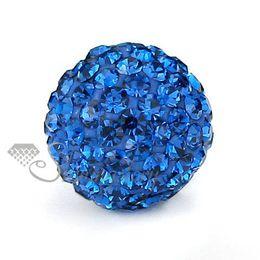Wholesale Macrame Bracelet Pave Beads - 10mm hematite beads for rhinestone glitter disco ball pave macrame bracelets making supplies