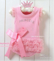 Wholesale Doomagic Christmas - 4pcs lot Doomagic Princess Baby Romper Baby Onesies Bodysuit Girl Rompers Baby Wear Clothes