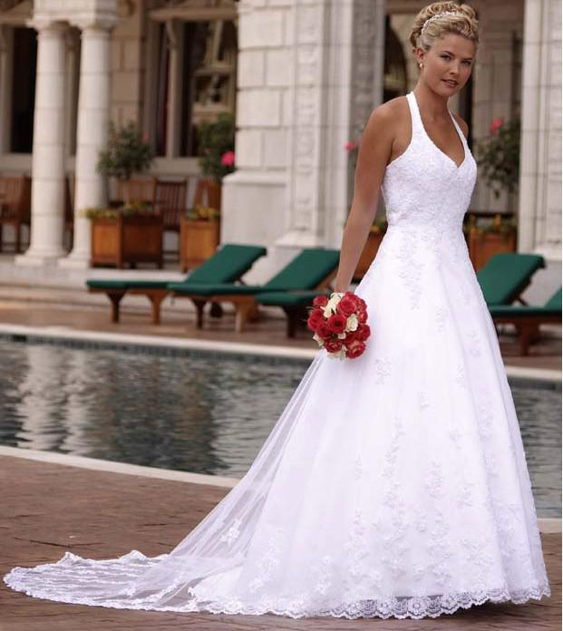 halter neck wedding dresses online | Wedding