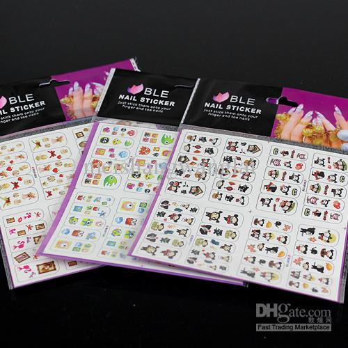 Nail Art Decal Water Nail Sticker 4in1 Skull Nail Decals Water