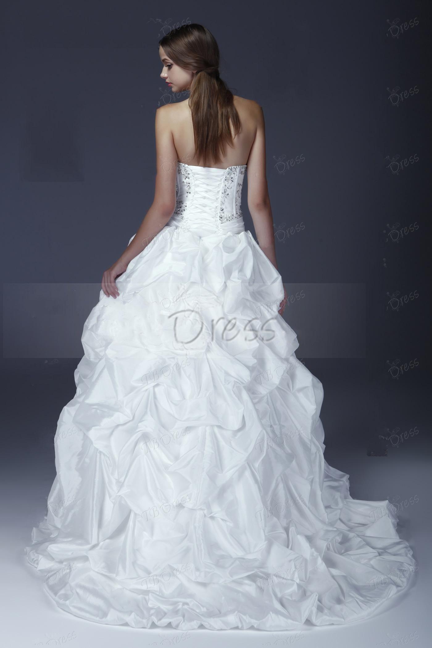 2013 robe de mariée élégante robe de bal élégant chérie sans manches Ruffling Aleksander
